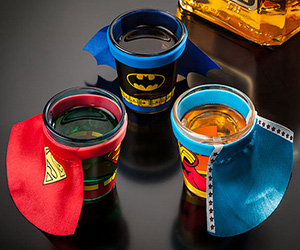 DC Comics Shot Glass with Cape