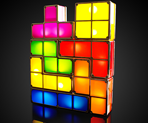 7 Piece Tetris Table Light