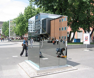 One-Way Mirror Public Toilet