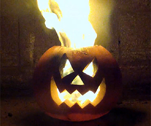How to Make a Flaming Pumpkin