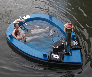 The HotTug Hot Tub Boat