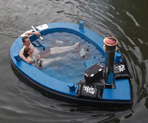 The HotTug Hot Tub Boat